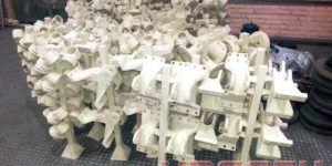 New technology for casting parts for the production of minitractors